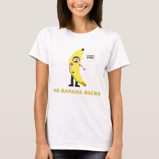 バナナの背部無し Tシャツ