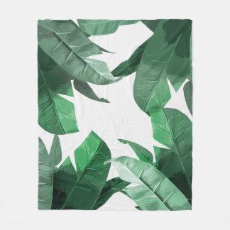 バナナの葉のプリントのフリースブランケット フリースブランケット