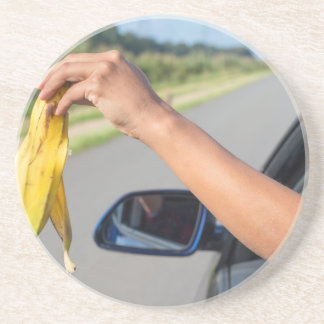バナナの車の窓の腕の低下の皮 コースター