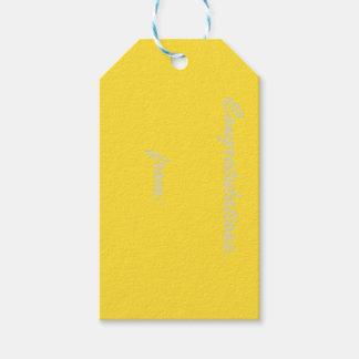 バナナの黄色いお祝いのギフトのラベル ギフトタグ