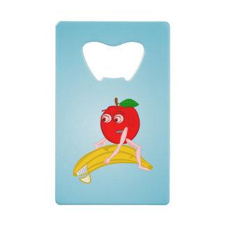 バナナをまっすぐにする整骨療法家のフルーツおもしろいなApple クレジットカード 栓抜き