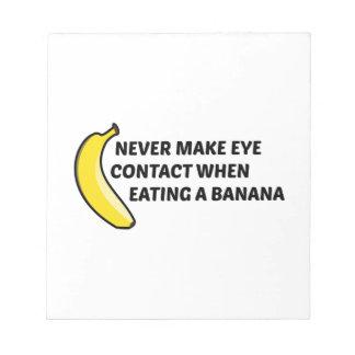 バナナを食べた場合決してアイ・コンタクトを作らないで下さい ノートパッド