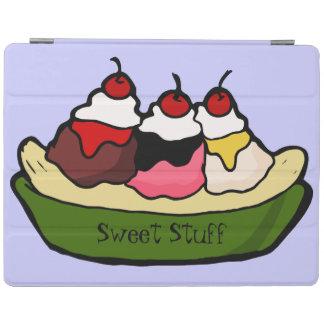 バナナスプリットの甘いアイスクリームの御馳走 iPadスマートカバー
