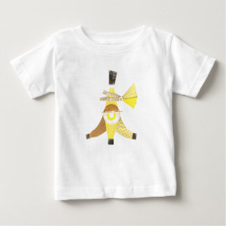 バナナスプリット背景のベビーのTシャツ無し ベビーTシャツ