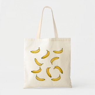 バナナパターンスケッチ版 トートバッグ