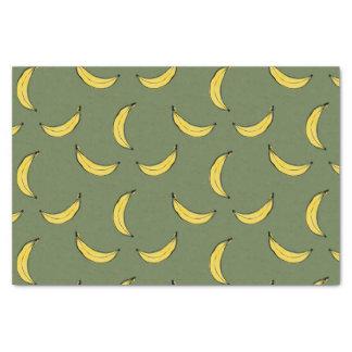 バナナパターン-緑 薄葉紙