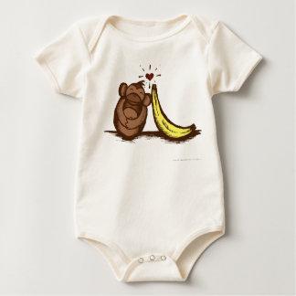 バナナ愛ベビーのクリーパー ベビーボディスーツ