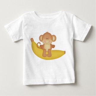 バナナ猿のベビーのTシャツ ベビーTシャツ
