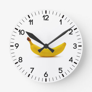 バナナ ラウンド壁時計