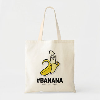バナナ(暗いチョコレート)の*Budgetの戦闘状況表示板 トートバッグ