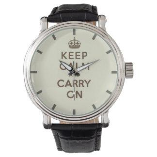 バニラのKeep Calm and Carry Onチョコレート 腕時計