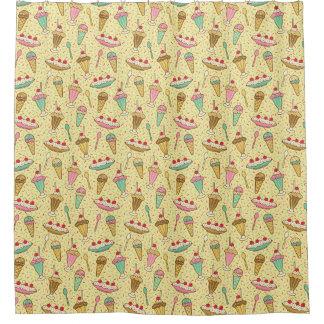 バニラアイスクリームのシャワー・カーテン シャワーカーテン