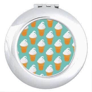 バニラアイスクリームの円錐形パターン