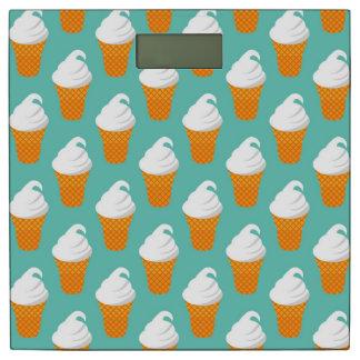 バニラアイスクリームの円錐形パターン 体重計