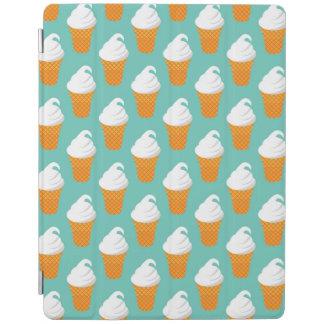 バニラアイスクリームの円錐形パターン iPadスマートカバー