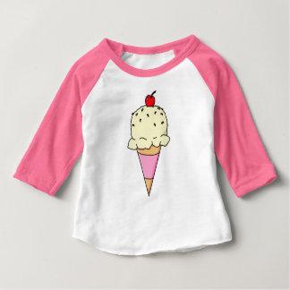 バニラアイスクリームの円錐形 ベビーTシャツ