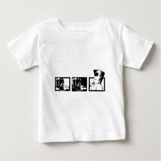 バニラアイス-氷の氷のベビー ベビーTシャツ