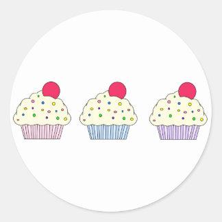 バニラカップケーキ ラウンドシール