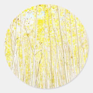 バニラケーキの《植物》アスペンの木 ラウンドシール