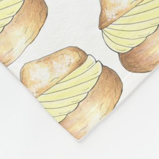 バニラシュークリームのフランスのなペストリーのグルメ毛布 フリースブランケット