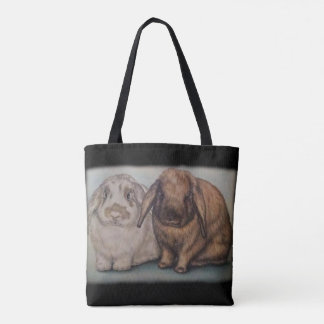 バニーのスケッチのウサギ動物の芸術 トートバッグ
