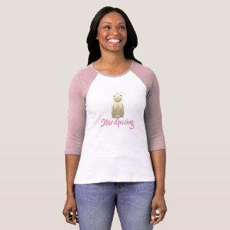 バニーのピンクを熟視する星 Tシャツ