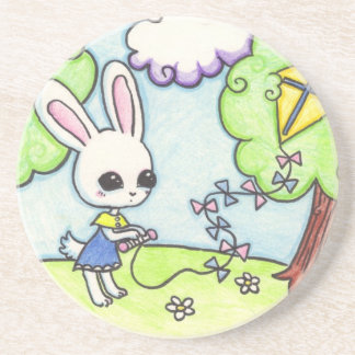 バニーの凧は木で付きます コースター