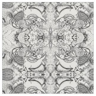 バニーの曼荼羅パターン ファブリック