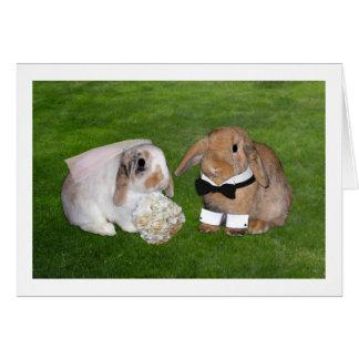 バニーの結婚式の招待状 カード