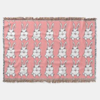 バニーの総括的なピンクのバニーウサギのブランケット スローブランケット