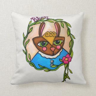 バニーの開花の枕 クッション