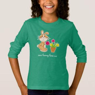 バニーは私を愛します。 イースターギフトはTシャツをからかいます Tシャツ