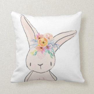 バニーウサギのお洒落なピンクのベビーの子供部屋の枕 クッション