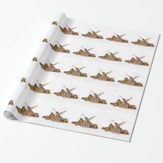 バニーウサギのクリスマス ラッピングペーパー