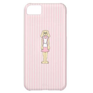 バニーウサギの漫画、身に着けているピンクおよび白 iPhone5Cケース