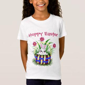 バニー-イースターバスケットのティー Tシャツ