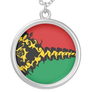 バヌアツのすごい旗 シルバープレートネックレス