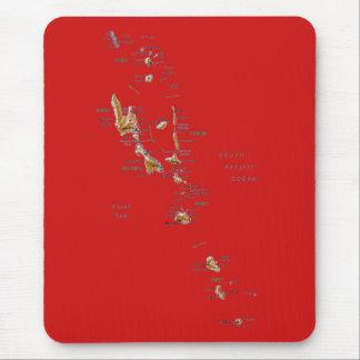 バヌアツの地図のマウスパッド マウスパッド