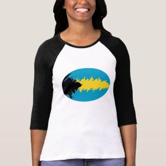 バハマのすごい旗のTシャツ T-シャツ