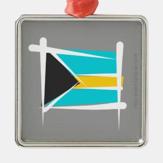 バハマのブラシの旗 メタルオーナメント