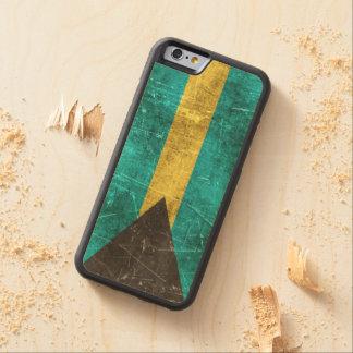 バハマのヴィンテージの老化させ、傷付けられた旗 CarvedメープルiPhone 6バンパーケース