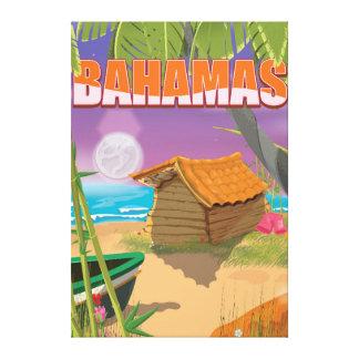 バハマのヴィンテージ旅行ポスター キャンバスプリント