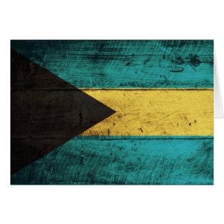 バハマの古い木の旗 カード
