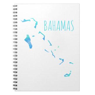 バハマの地図 ノートブック