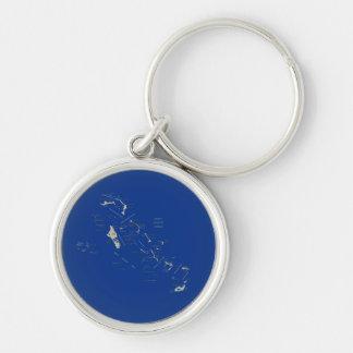 バハマの地図Keychain キーホルダー