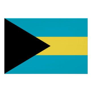 バハマの旗が付いている愛国心が強いポスター ポスター