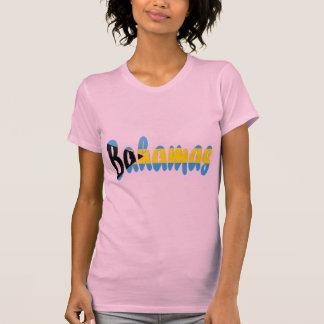 バハマの旗のTシャツ Tシャツ