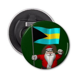 バハマの旗を持つサンタクロース 栓抜き