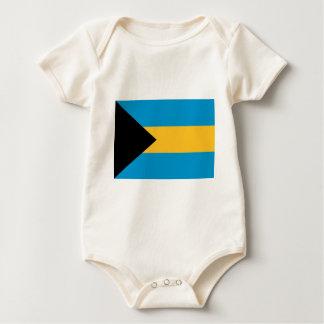 バハマの旗 ベビーボディスーツ