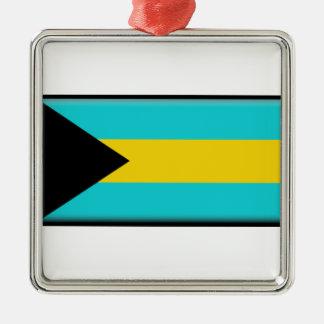 バハマの旗 メタルオーナメント